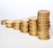 Coins of Ukrainian hryvnias — Stock fotografie