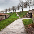Old fortification wall around Lucca town, Italy — Stock Photo #71622003