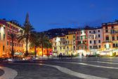 LERICI, ITALY - JUNUARY 6, 2015: central square in the night in  — Stock Photo