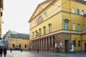 PARMA, ITALY - JANUARY 08, 2015: Exterior pf the Teatro Regio. I — Stock Photo