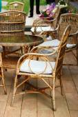 Wicker furniture — Stock Photo