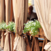 Decoration of street cafe — Foto Stock