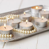 Candles on the tray — ストック写真