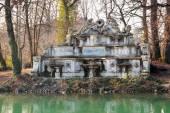Fontána v central parku v Parma, Itálie. — Stock fotografie