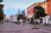 PARMA, ITALY - DECEMBER 30, 2014: Giacomo Matteotti square in Pa — Stock Photo