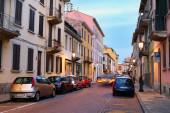 Parma, Włochy - 30 grudnia 2014: Miasto ulica w Parmie w ev — Zdjęcie stockowe