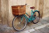 Old vintage Italian bicycle — Stock Photo