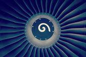 Silnika odrzutowego samolotu pasażerskiego — Zdjęcie stockowe