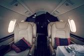 Luksusowe wnętrza statków powietrznych lotnictwa korporacyjnego — Zdjęcie stockowe