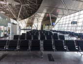 Empty departure lounge at the airport — Foto Stock