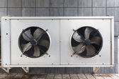 Industrial air conditioner on the roof — Stockfoto