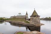 Stone tower and Pskov Kremlin — Stock Photo