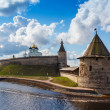 Stone tower and Pskov Kremlin — Stock Photo #57763575