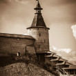Stone tower and Pskov Kremlin — Stock Photo #57763605