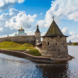 Stone tower and Pskov Kremlin — Stock Photo #58301745