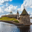 Stone tower and Pskov Kremlin — Stock Photo #58301789