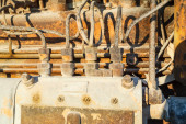 Vintage dizel motor parçaları — Stok fotoğraf