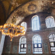 Old chandelier under the dome of Hagia Sophia — Stock Photo #59455257