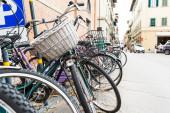 İtalyan eski tip bisikletler — Stok fotoğraf