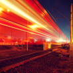 Night motion on urban streets — Stock Photo #62278585