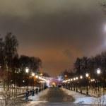 Street lamp and Manezhnaya square — Stock Photo #62280189