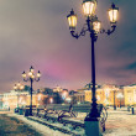 Street lamp and Manezhnaya square — Stock Photo #62280211