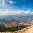 Panoramic view from the mountains on Sardinia — Stock Photo #63411257