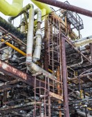Metal rusty pipes and smokestacks — Stock Photo