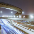 Transport metropolis, traffic and blurry lights — Stock Photo #75291393