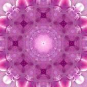 Concentric Flower Center Macro Close-up. Mandala Kaleidoscopic design — Zdjęcie stockowe