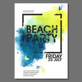Summer Night Party Flyer — ストックベクタ