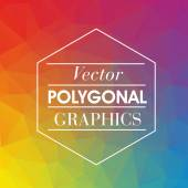 Colorful Polygonal Mosaic Background — Stock Vector