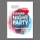 Volantino festa di notte d'estate — Vettoriale Stock
