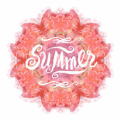 Kaleidoscope mandala with Summer. — Stock Vector