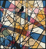 Songbird mosaic — Stock Vector