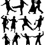 Elderly people dancing — Stock Vector #72867039