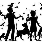 Animal children — Stock Vector #74579269