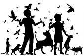 Djur barn — Stockvektor
