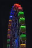 Ferris wheel illumination — Stock Photo