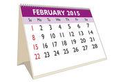 února 2015 — Stock vektor