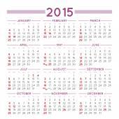2015 squared calendar usa — Stock Vector