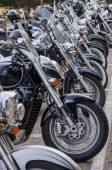 строка мотоциклов — Стоковое фото