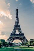 Eiffel tower vintage effect — Stock Photo