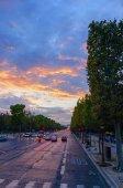 Kampları elysees günbatımı — Stok fotoğraf