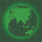 Asia green — Stock Vector