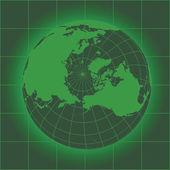 Norh Pole green — ストックベクタ