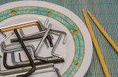 Allen keys in a plate — Stock Photo