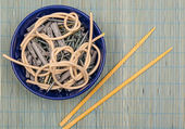 Screws, dowels and fiber optics — Stock Photo