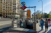 Metro Plaza de espana — Stock Photo