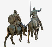 Don Quijote guides Sancho — Foto Stock